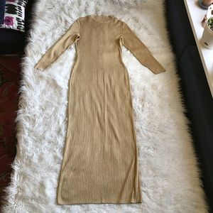 St John Collection By Marie Gray Gold Maxi Dress